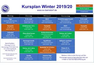 Kursplan Winter 19/20